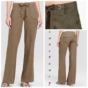 Sanctuary Wide Leg Beachcomber Linen Pants